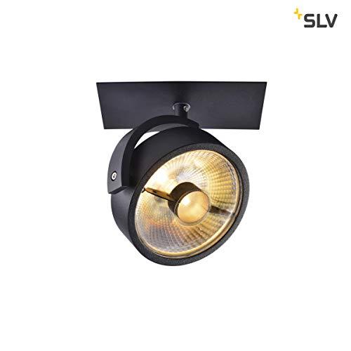 SLV Einbau-Strahler KALU 1, dreh- und schwenkbar | Dimmbare Deckenleuchten, Beleuchtung innen | LED Spots, Fluter, Deckenstrahler, Decken-Lampen, Einbau-Leuchten | 1-flammig, GU10 QPAR111, EEK E-A++