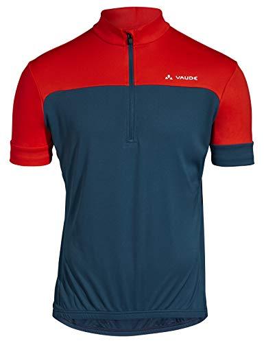 VAUDE Herren Trikot Men's Mossano T-Shirt V, baltic/mars red, L, 42385