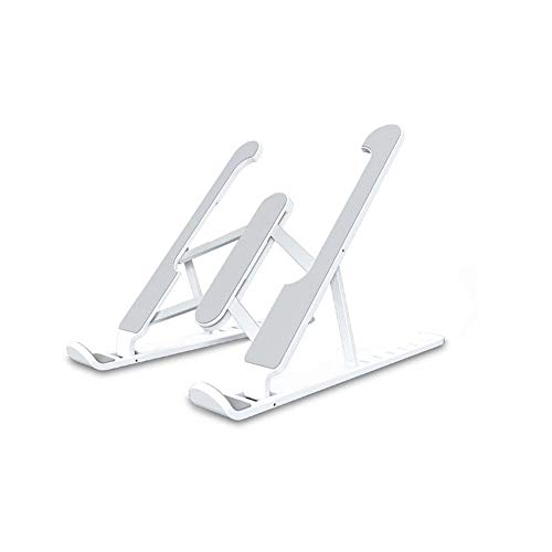 Lilon Laptop Stand, Portable Ventilated Desk Laptop Stand Foldable with 7 Levels Height Adjustment Compatible with All Laptops