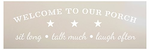 Welcome to Our Porch Stencil by StudioR12 | Reusable Mylar Template