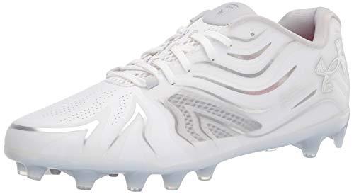 Under Armour Men's Command MC Lacrosse Shoe, White (100)/White, 9