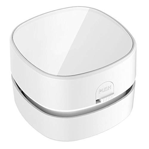 Z&LEI Aspirador portátil de la aspiradora, Mini USB Capa DE ESPACIONIO DE Desktop DE Desktop Teclado de la computadora Al vacío Alta eficiencia,Blanco