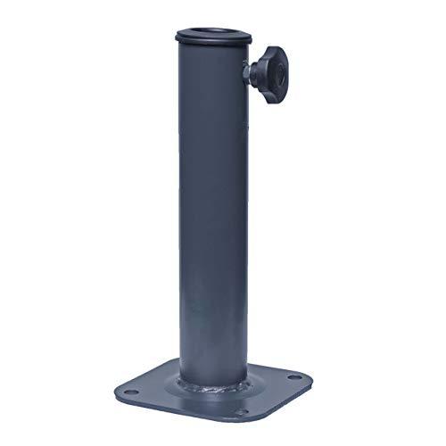 Ständer auf Bodenhülse HWC-A96, Schirmständer für Bodenanker/-Platte/-Montage Sonnen-/Ampelschirm, Metall Ø 38-48mm