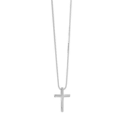 PNku Collar de plata estilo coreano Cruz colgante conjunto cadena simple personalidad joyería B
