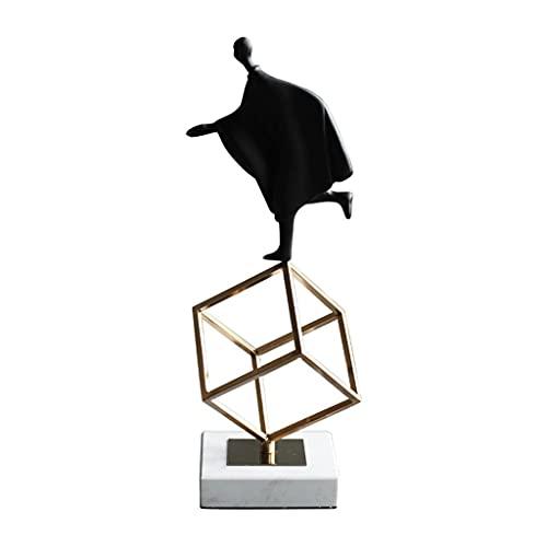 Decoración de escritorio Muebles para el hogar nórdicos Decoraciones de escritorio Moderno Minimalista Metal Resina Muebles de escritorio Figura Escultura Estatua decoración para el hogar, oficina