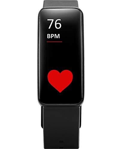 Cellularline Easysfit HR Plus - BTEASYFITHRPLUSK - Fitness Watch, Activity Tracker, Smart GPS Funktion, Bluetooth, Armband mit Herzfrequenzmesser