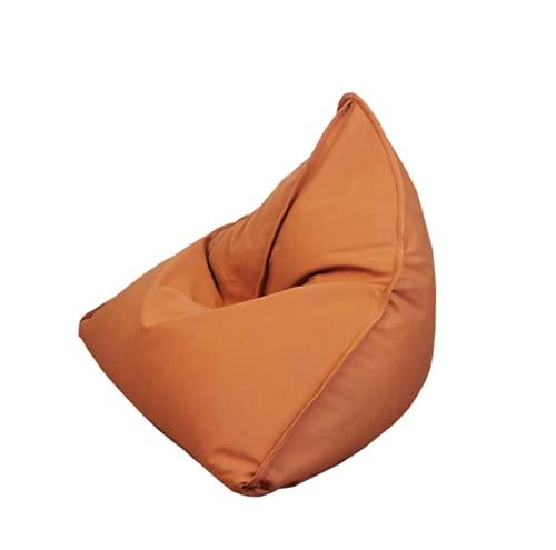 ビーズクッション ひとをだめにするクッション 座布団 豆袋 軽量 EPS 人をダメにするソファー 疲労解消 安全 無味 カバー取り外し可能 洗濯可能 (オレンジ, 105*120*90cm)