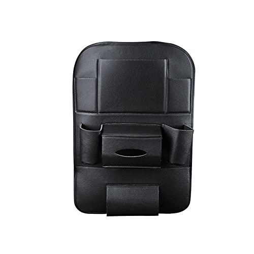UTOBY Protector de respaldo de coche multifuncional resistente al agua, organizador de asiento de coche de piel sintética con saco, organizador para niños