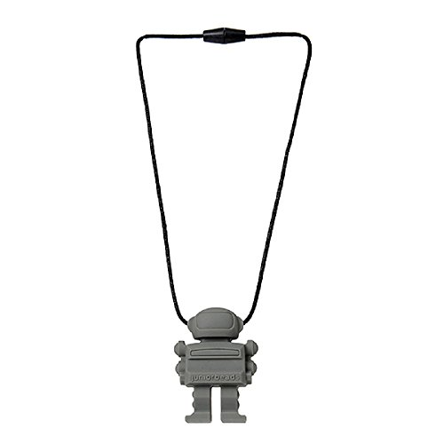 Juniorbeads by Chewbeads Spaceman Necklace, 100% Safe Silicone - Grey