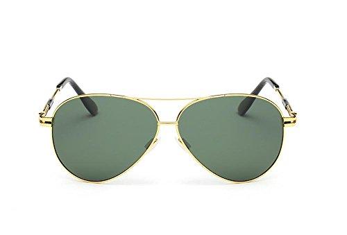 CMCL Caminante Gafas De Sol Polarizadas Clásicas Gafas De Sol De Moda De Los Hombres, Green Capullos