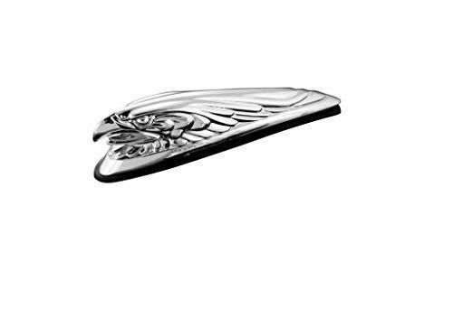 Highway Hawk Motorrad Ornament/Figur Adlerkopf 12 cm lang in Chrom