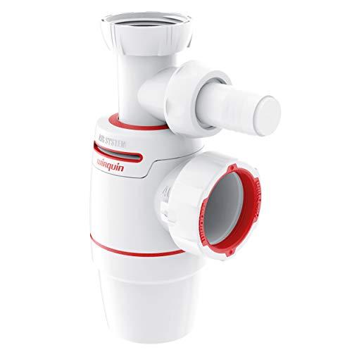 Wirquin 30722155 Wirquin Neo Air Siphon für Spülbecken, mit Waschmaschinenanschluss D40