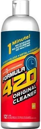 Original Cleaner by Formula 420 | Glass Cleaner | Cleaner Pack | Safe on Glass, Metal, Ceramic, and Pyrex | Cleaner - Assorted Sizes (12 oz - Single)