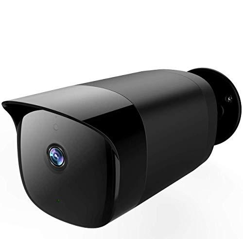 SimCam AI Outdoor-Überwachungskamera mit Gesichtserkennung, Personenerkennung, IP66 wasserdicht, FHD-Nachtsicht, 2-Wege-Audio, Zusammenarbeit mit Alexa und Google Assistant