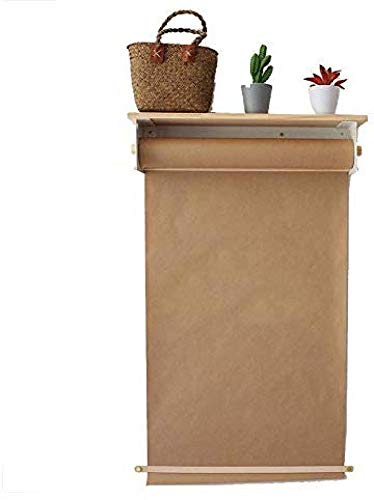 Dispensador Papel Kraft Montado Soporte Dispensador Papel Kraft Montado En La Pared Y Papel Kraft Rodillo De Dispensador De Papel para Oficina Casa Y Café Tienda,64cm