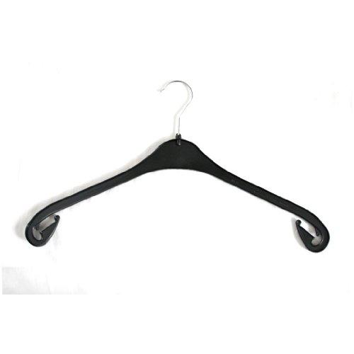 100 Stück Kunststoff Kleiderbügel schwarz NA47 47cm Made in GERMANY/Mit drehbarem Haken