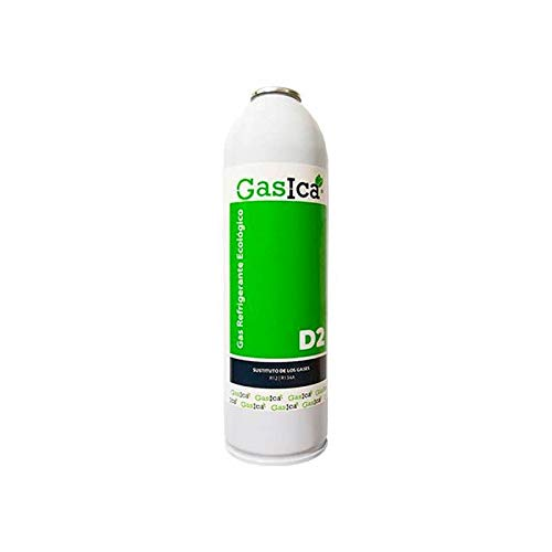 Todoelectrico - Gas refrigerante orgánico GASICA D2 sustituto R12/R134a 311.8GR para Aire Acondicionado