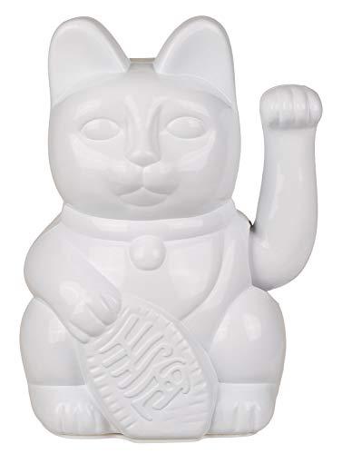 Out of the Blue 57/9821 - Gato de la Suerte Tradicional asiática (20 cm, Funciona con Pilas, en Caja de Regalo), Color Blanco