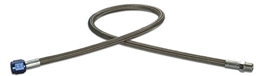 Design Engineering 080206 CryO2 Stainless Steel Braided Hose, 4AN Female x 1/8 NPT Male, 5'