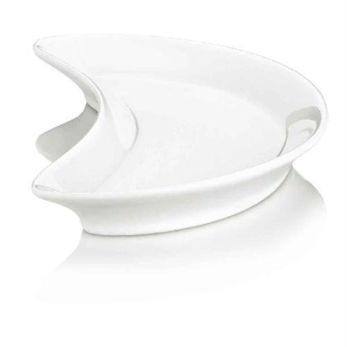 Beilagenteller Halbmond 21 x 10,5 cm/PILLIVUYT/Porzellan/Teller/Salatteller