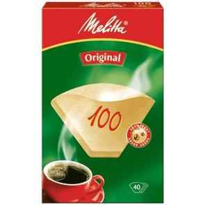 2er Melitta Kaffee-Filtertüten Typ 100 (Inhalt pro Packung: 40 Stück)