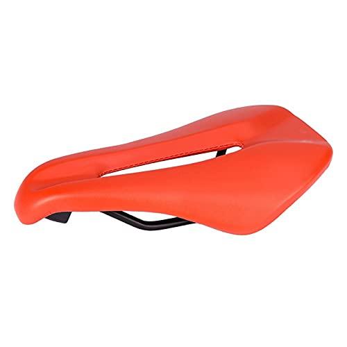 Heqianqian Sillín de bicicleta cojín hueco ultraligero silla de montar bicicleta de montaña asiento de bicicleta Accesorios Ciclismo Asientos confort asiento bicicleta (tamaño: 146 mm; color: rojo)