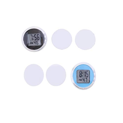 Shiwaki 2pcs Universal Motorraduhren/Uhr, Digital Mit Stunden/Minuten/Sekundenanzeige, Wasserdicht, Aufklebbar