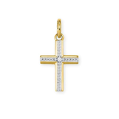 amor Anhänger für Damen aus Gold 585/14 ct, Kreuz