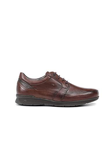 Fluchos   Zapato de Hombre   NTAURO F0998 Envejecido Polisandro C3 Zapato Confort   Zapato de Piel   Cierre con Cordones   Piso de Goma
