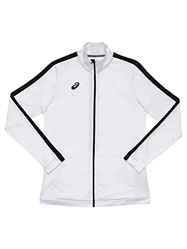 ASICS Damen Team Tricot Warm Up Jacke Track, Damen, Trainingsjacke, 2032A755, Team White/Team Black, XX-Small