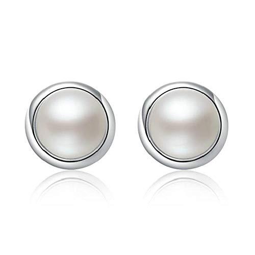 YFZCLYZAXET Pendientes Mujer Pendientes De Plata con Perlas Femeninas De Temperamento De Plata Esterlina Pendientes De Mujer Joyería De Plata Esterlina