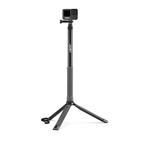 JOBY TelePod Sport, Teleskopstab für Action- und 360-Grad-Kameras, Wasserfestes Reisestativ, Fotozubehör, für Content Creation, Video-Blogs, Action Shots