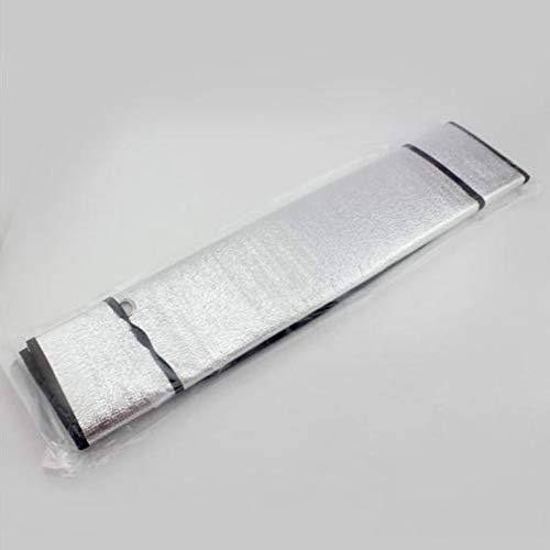 Parasol de un Solo Lado para automóvil Ventana Frontal de automóvil Aislamiento de Papel de Aluminio Bloque Solar (Plata)