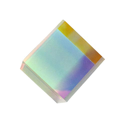 LEDMOMO Cristal óptico RGB Dispersión Prisma X-CUBO para Física Enseñar Arte de Decoración 10 x 10 x 10mm