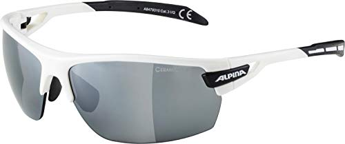 ALPINA TRI-SCRAY Sportbrille, Unisex– Erwachsene, white-black, one size