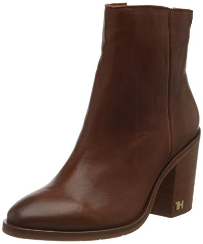 Tommy Hilfiger Damen Mono Color Heeled Boot Stiefeletten, Braun (Ginger Bread 202), 38 EU