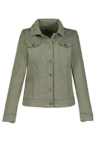 GINA LAURA Damen Sweatjacke, Jeansjacken-Style, extraweich khakigrün 38 748980 31-38