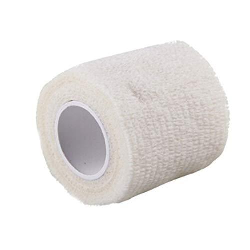 Delleu Selbstklebendes Klebeband, Erste-Hilfe-Medizinische Gesundheitspflege, Mullbinde, elastisch, weiß, 5cm*4.5cm