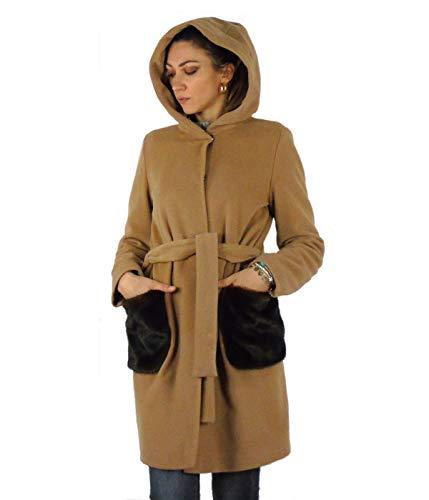 Emme Marella Damen-Mantel aus Wolle Agente 001, 001 001, Beige, 001 001 44