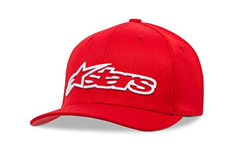 Alpinestars Blaze Flexfit - Unisex Baseball Cap, RED/WHITE, S/M