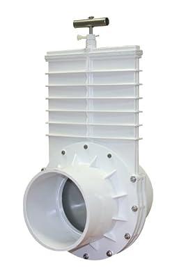 "Valterra 6601 PVC Gate Valve, White, 6"" Slip from Valterra Products"