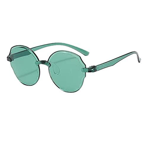 Lsdnlx Gafas de Sol,Marco Cuadrado Decorativo Moda Caliente Cool Gafas de Sol Una Pieza Jelly Unisex Caramelo Colorido