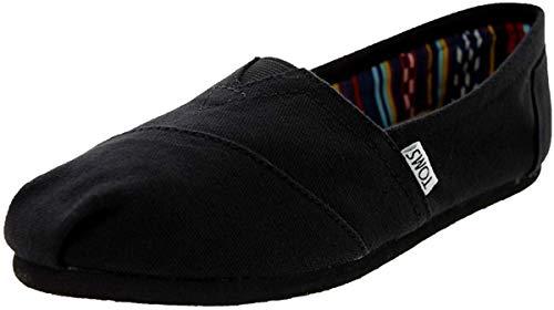 TOMS Black Canvas Women's Classic 10002472 (Size: 10)