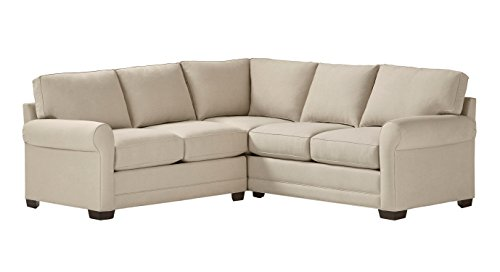 """Stone & Beam Kristin Performance Fabric Sectional Sofa Couch, 93""""W, Sand"""