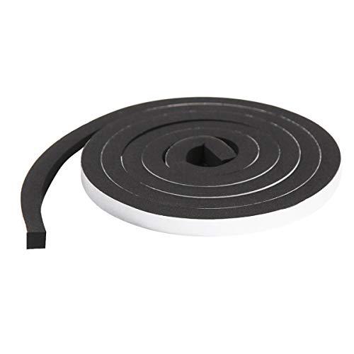 すき間ふさぎ 隙間テープ 防音テープ 耐候性 、防寒、防虫 シーリング 節電 冷暖房効率アップ 高密度防音絶縁 (12mm*12mm*4m)