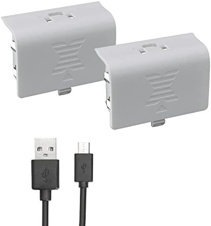 Xbox one Battery Pack White 800mAH 2 Pack Rechargeable NI MH for Xbox One S Xbox One X Xbox product image