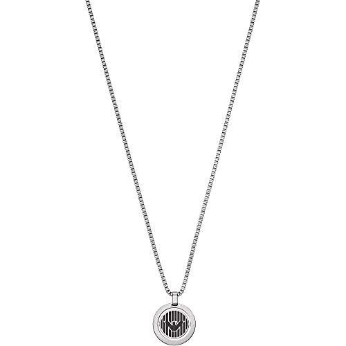 Emporio Armani Herren Halskette Anhänger Onyx schwarz, EGS2725040