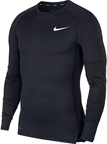 NIKE Langarmshirt Cool Comp Camiseta de Manga Larga, Hombre, Multicolor (Black/Dark Grey/White), M