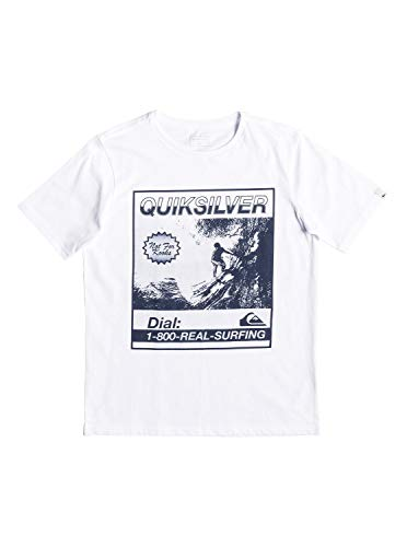 QUIKSILVER Temple of The Dog Camiseta, Niños, Blanco (White), M