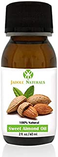 Jadole Naturals Sweet Almond Oil For Hair Skin And Eyelash 60 ml, Pack of 1